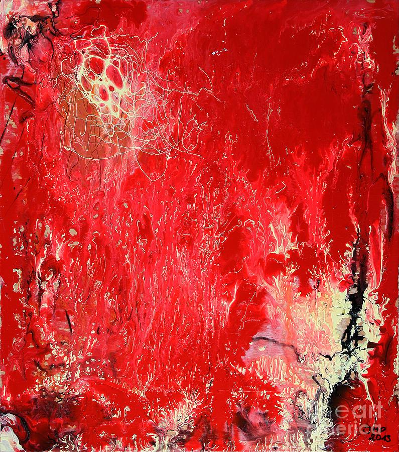 Painting Painting - Bleeding Love by Jutta Maria Pusl