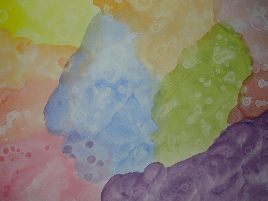 Abstract Watercolor Painting - Bleeding Rainbow by Priya Vin