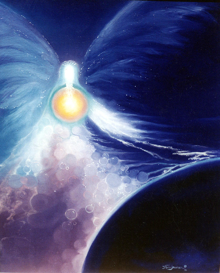 Angel Painting - Bless Our Earth by Valerie Aune