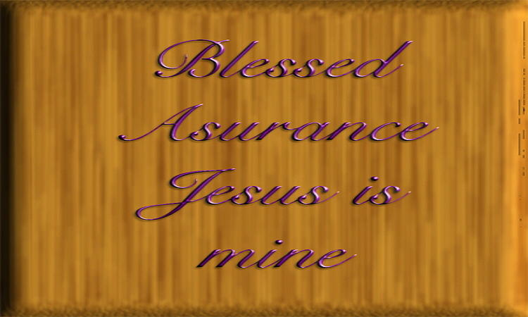 Wooden Plaque Digital Art - Blessed Asurance by Philip McDonald