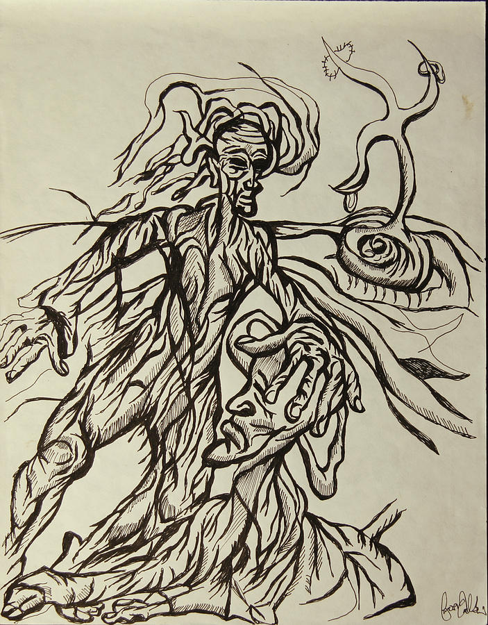 Religion Drawing - Blessed From Above  by Jon Baldwin  Art