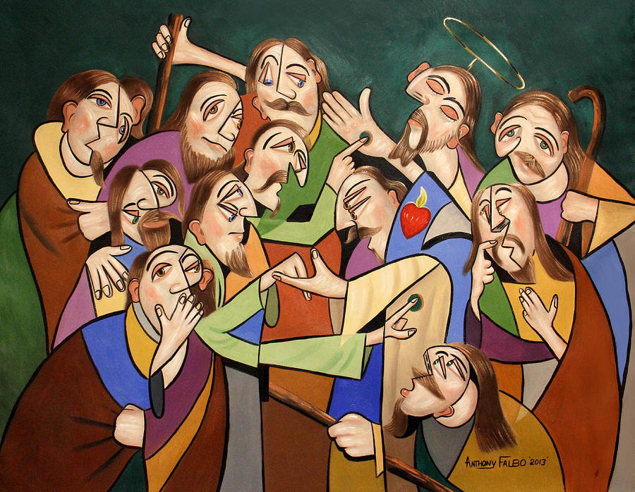 Jesus Painting - Blessed Is He Who Believes Without Seeing by Anthony Falbo