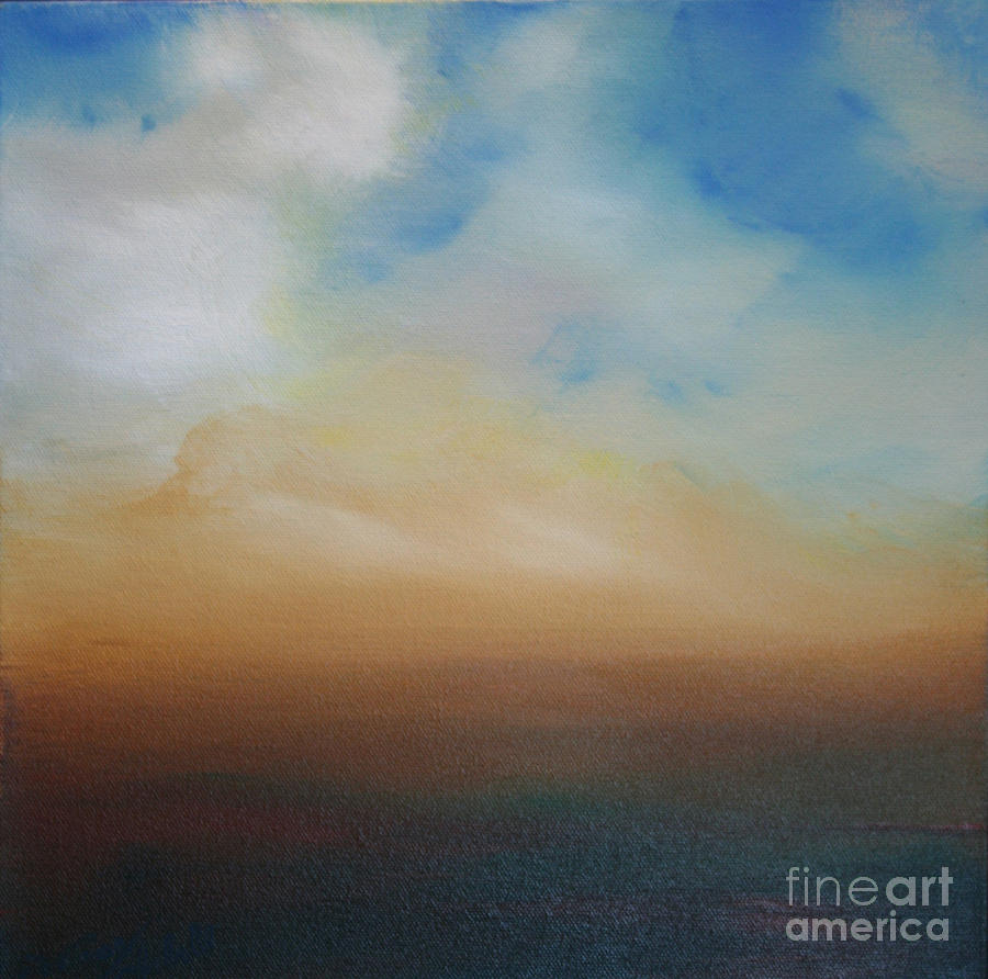 Abstract Painting - Blessed by Michele Hollister - for Nancy Asbell