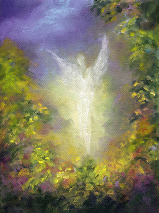Angel Painting - Blessing Angel by Marina Petro