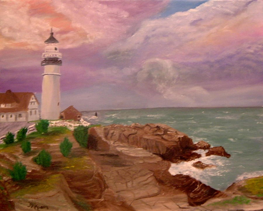 Seascape Painting - Blessing In D Skies by Mary Kaser