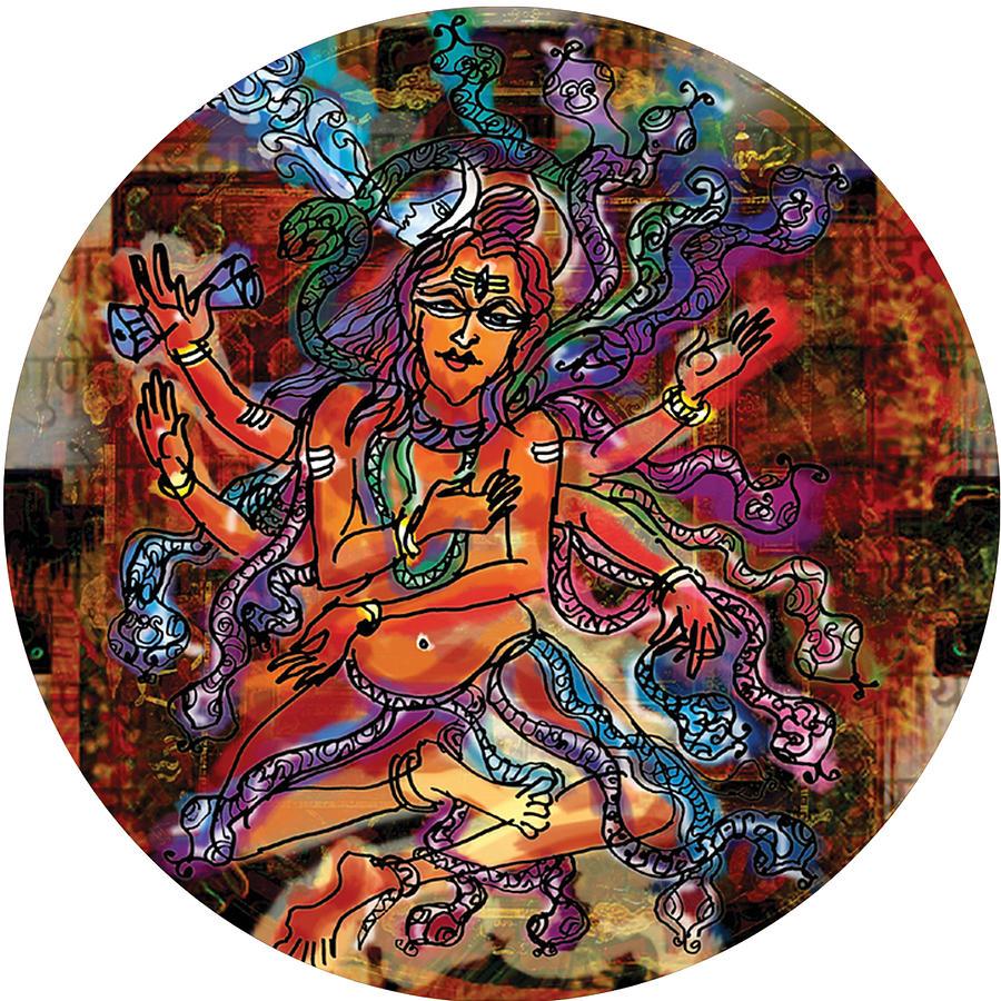 Blessing Shiva by Guruji Aruneshvar Paris Art Curator Katrin Suter