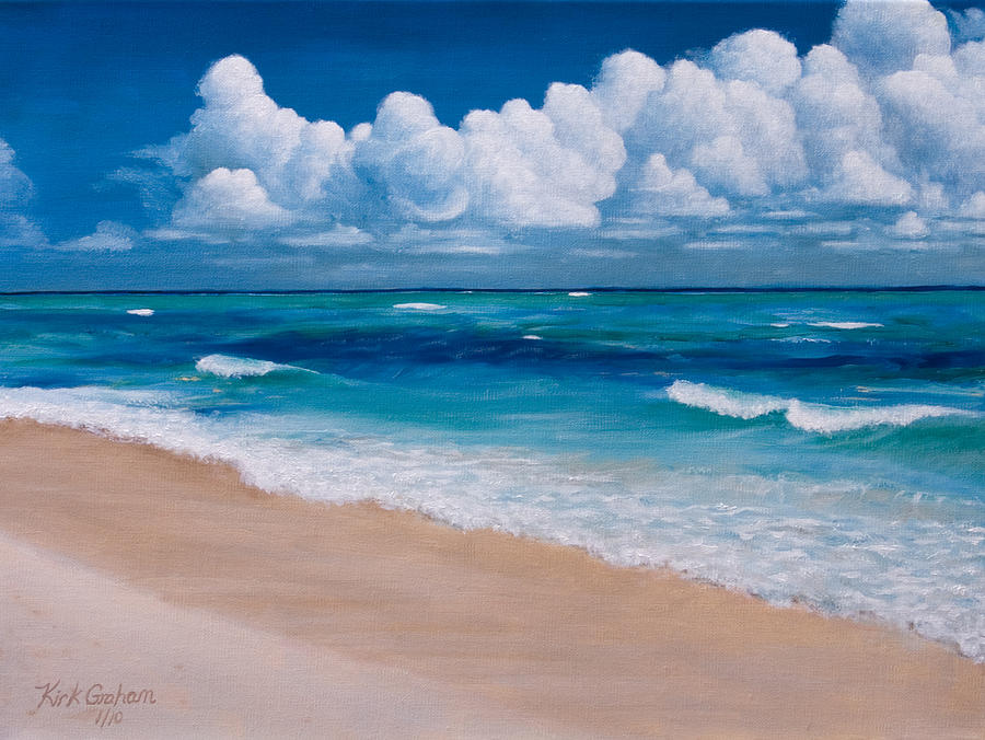 Beaches Painting - Blessings Found At Playa Del Carmen by Kirk Graham