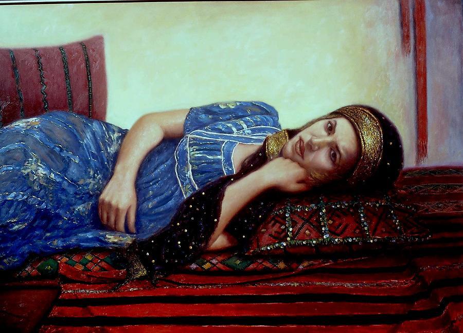 Bleu Painting by Alaoui atlas Hassan