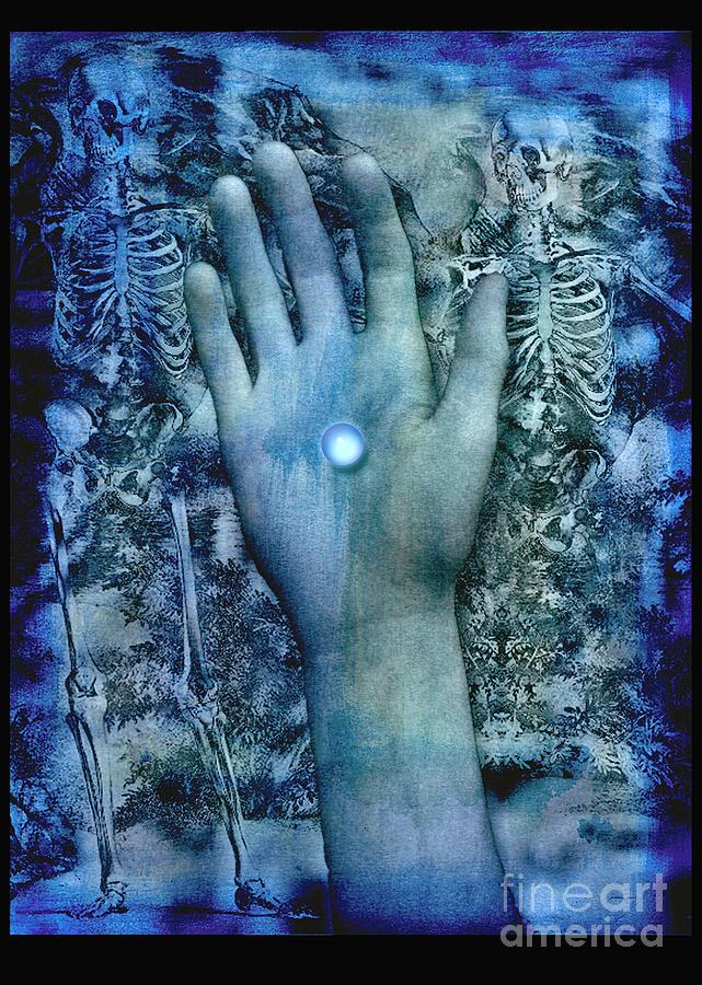 Death Digital Art - Bleu Danse Macabre by Digital Crafts