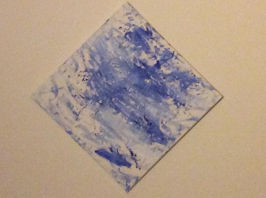 Abstract Expressionist Painting - Bleu by Samuel Holliday