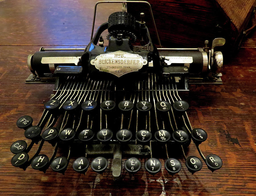 Antique Typewriters Photograph - Blickensderfer No. 5 Out Of The Case by Linda Stern