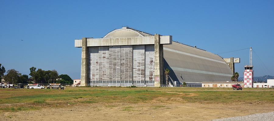 Orange County California Photograph - Blimp Hanger From Closed El Toro Marine Corps Air Station by Linda Brody