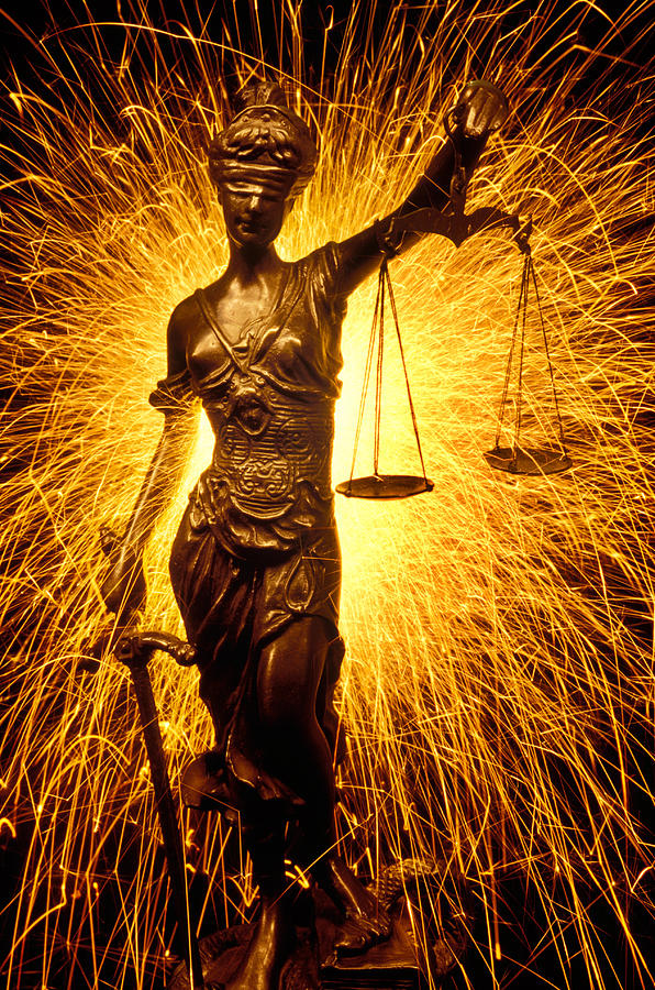 Blindfolded Photograph - Blind Justice  by Garry Gay
