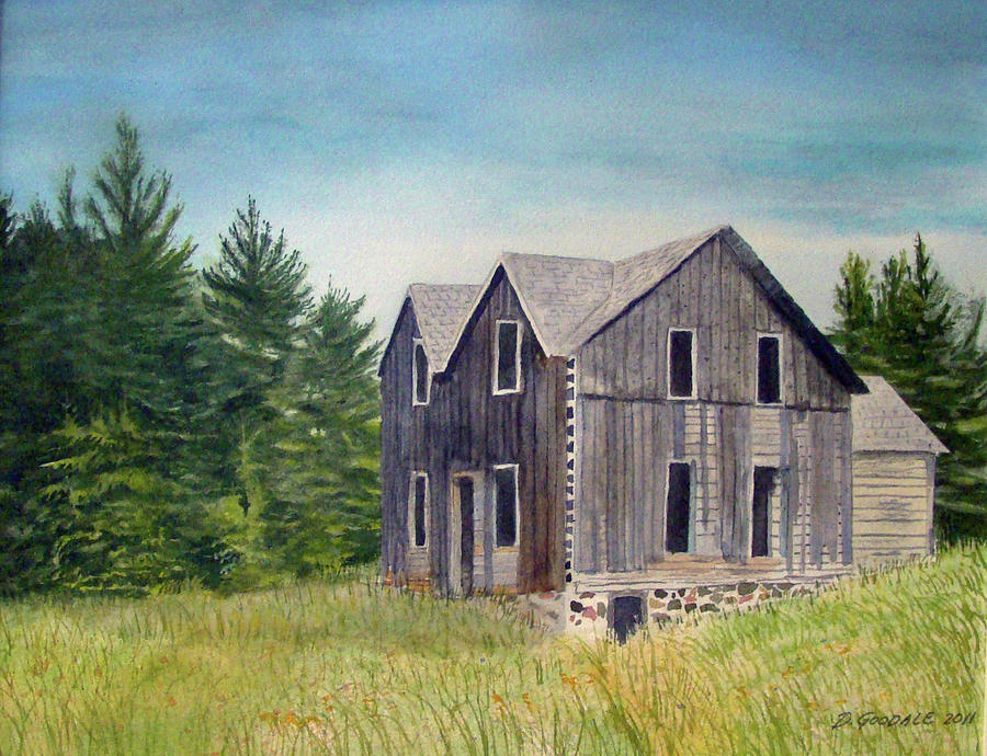 Old Buildings Painting - Blind River Homestead by Doug Goodale