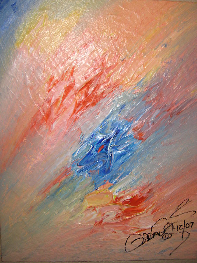 Abstract Painting - Bliss - B by Brenda Basham Dothage