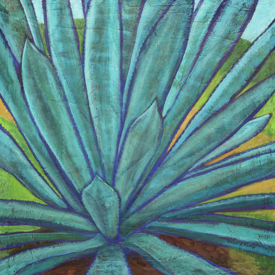 Ice Cream Painting - Blissful Agave by Tara D Kemp