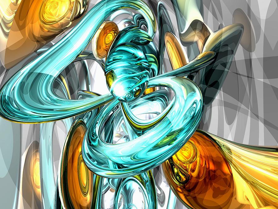 3d Digital Art - Blissfulness Abstract by Alexander Butler