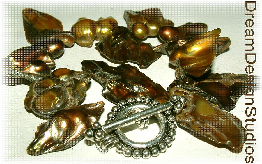 Blisterpearls Jewelry - Blister Pearls In Bronze by Donna  Phitides