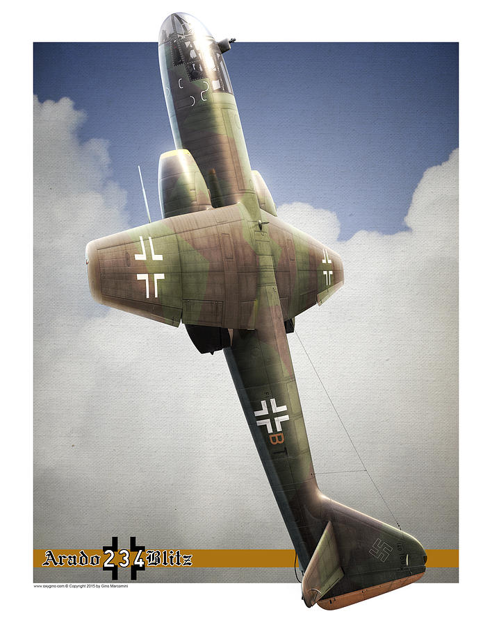 Arado Digital Art - Blitz On The Clouds by Gino Marcomini