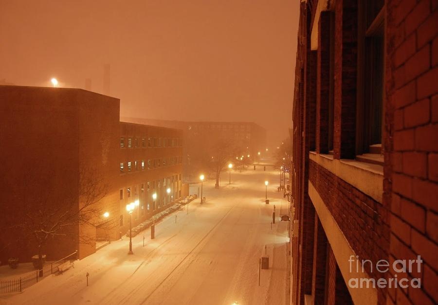 Blizzard Market Street Lowell MA by Mary McAvoy