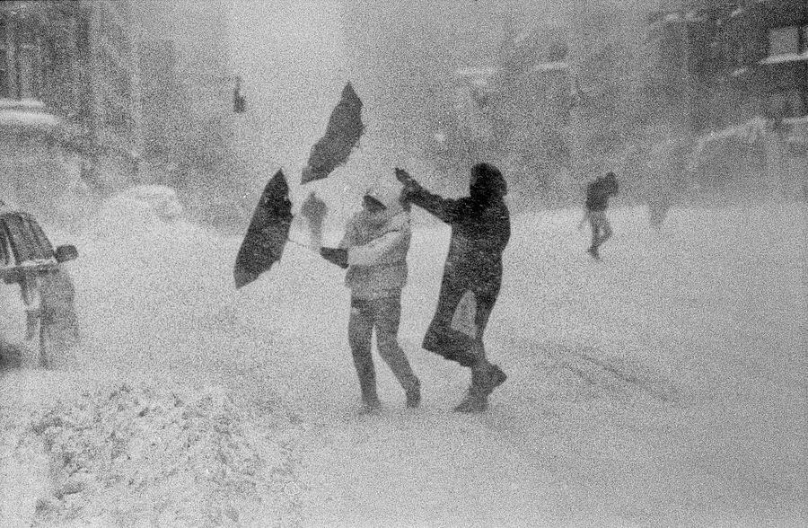 Blizzard on Third Avenue by Dave Beckerman