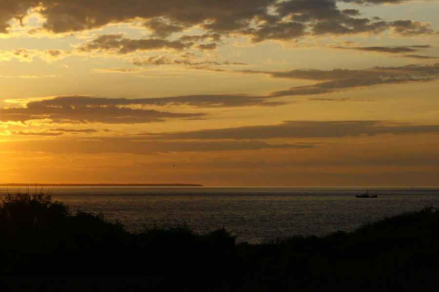 Block Island Photograph - Block Island From Montauk Point by Christopher Kirby