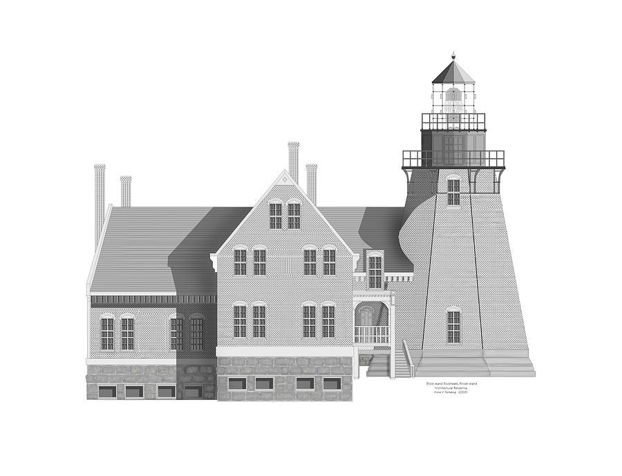 Block Island Rhode Island Painting - Block Island South East Rhode Island by Anne Norskog