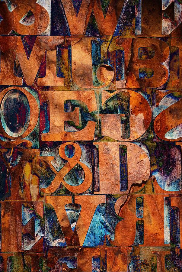 Blocks Photograph - Block Letters Variation 2 by Tony Ramos
