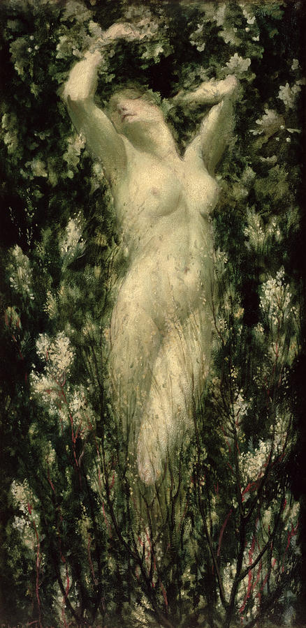 Female Painting - Blodeuwedd by Christopher Williams