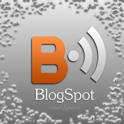 Blogspot Digital Art - Blogspot Logo-concept Orange B With Metalic Rss Waves by Chad Syphrett