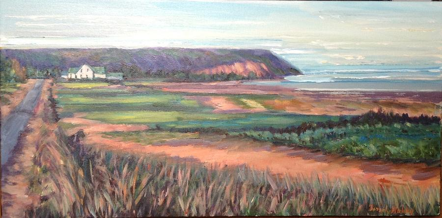 Landscape Painting - Blomidon , N. S . by Beverly Hubley