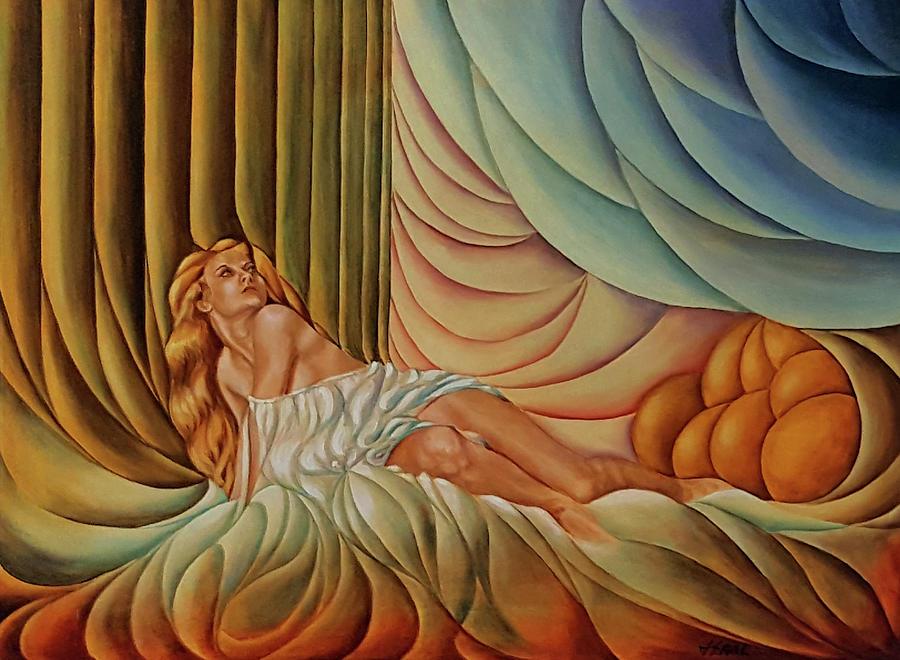 Blond Painting - Blond Silk by John Entrekin