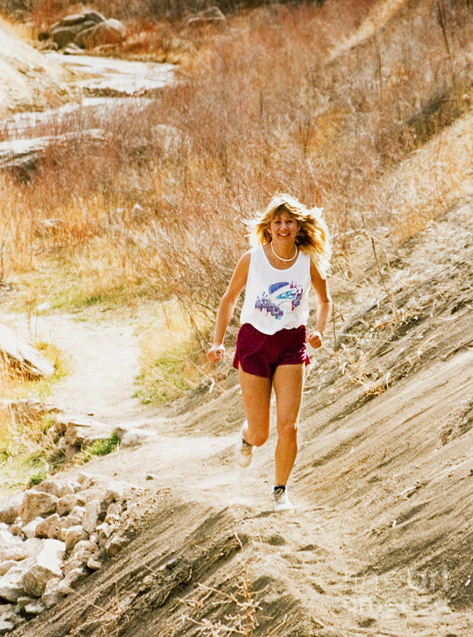 Blond Woman Trail Runner Photograph