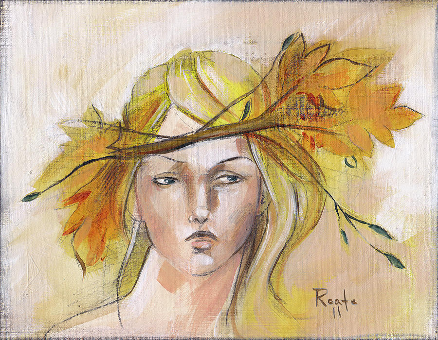 Autumn Leaves Painting - Blonde Autumn Forward by Jacque Hudson