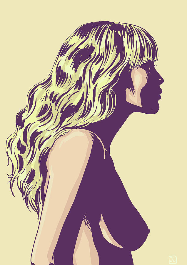 Blonde Drawing - Blonde by Giuseppe Cristiano