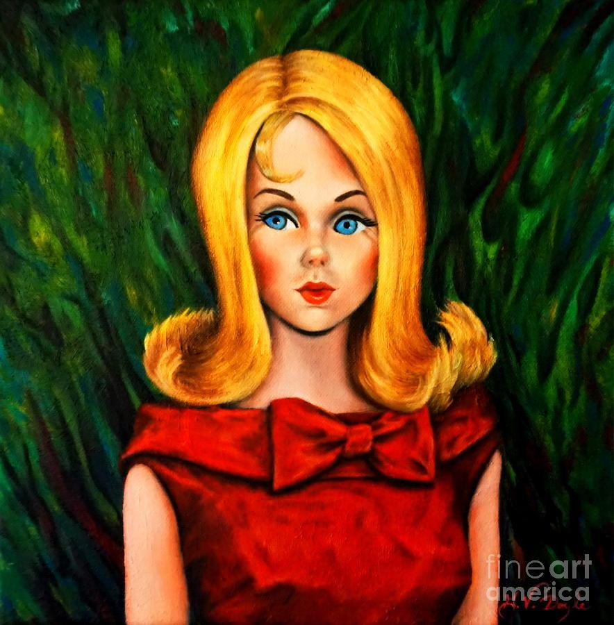 Blonde Marlo Flip Tnt Barbie Painting By Georgia S Art Brush
