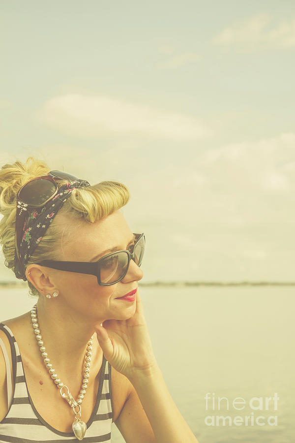 Blonde Pin Up Girl With Nostalgia Photograph by Jorgo Photography ...