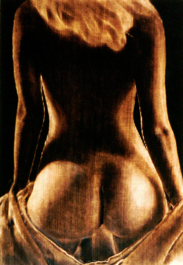 Realism Pyrography - Blonde Waist - Study by Dino Muradian
