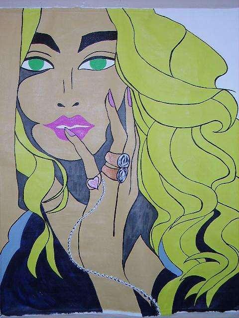 Blondie Painting by Lauren Childes