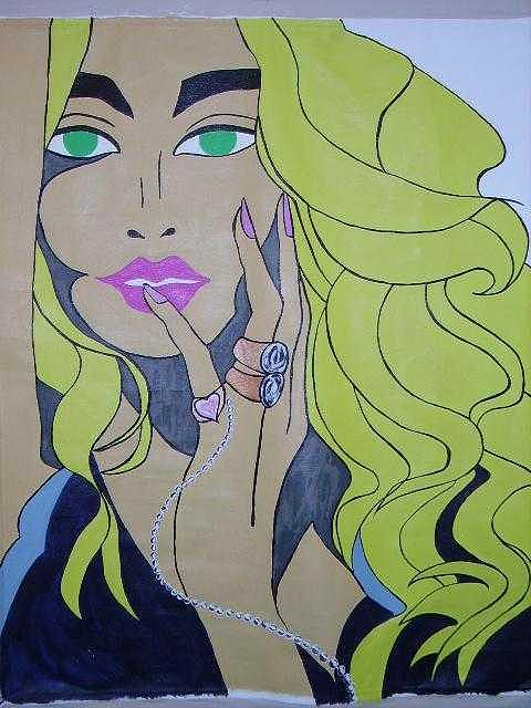 Blonde Painting - Blondie by Lauran Childs