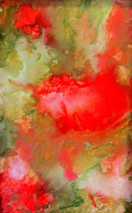 Encaustic Painting - Blood is thicker by Christine Johanns