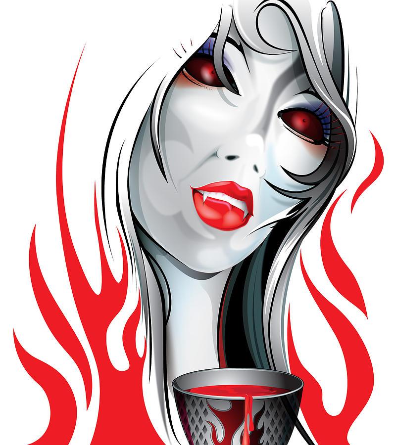 Blood Digital Art - Blood Lust  by Brian Gibbs