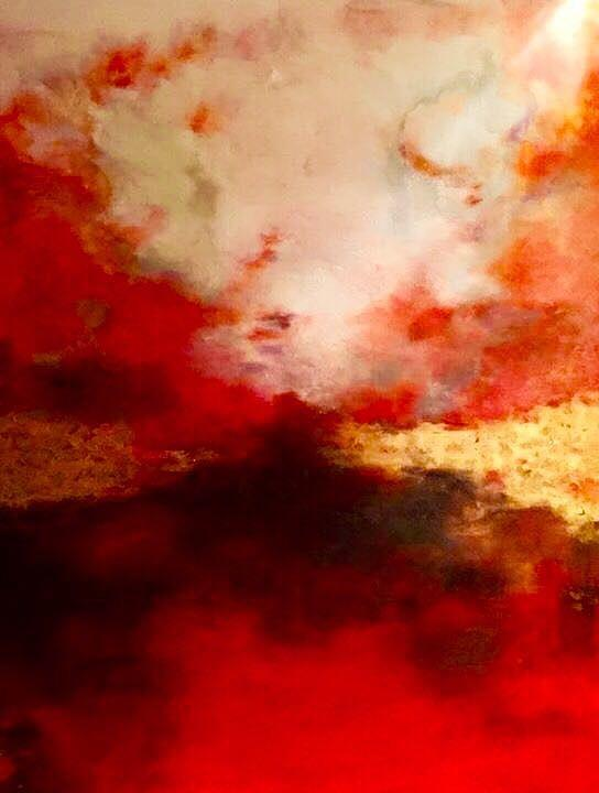 Blood Red Sky Painting By Anna Lee De Llano