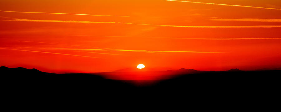 Los Angeles Photograph - Blood Red Sunset by Az Jackson
