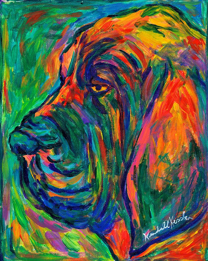 Dog Painting - Bloodhound  by Kendall Kessler