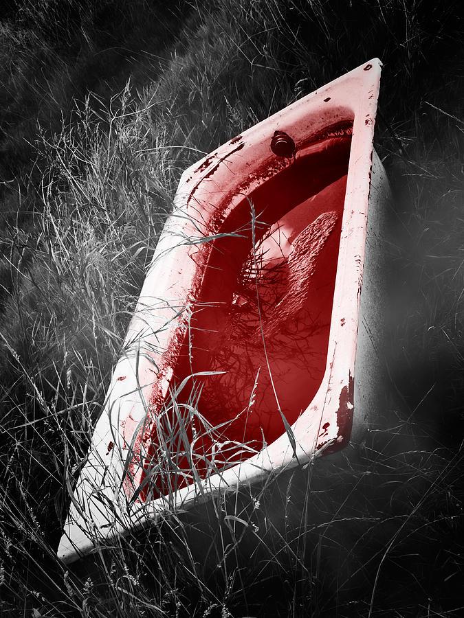Bathtub Photograph - Bloody Bathtub by Wim Lanclus