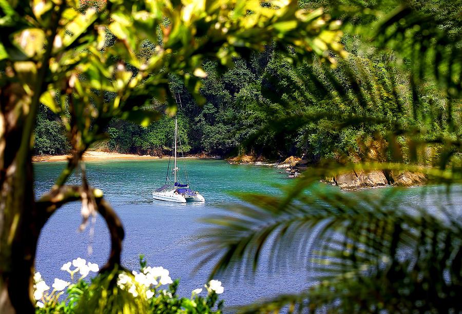 Sea Photograph - Bloody Bay Tobago by Geoff Tydeman