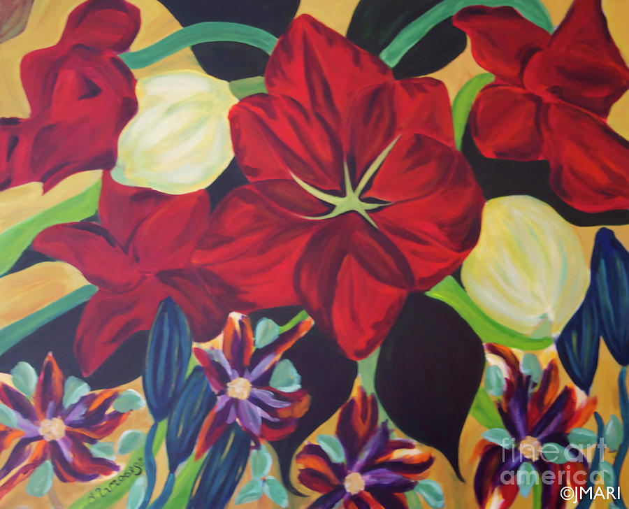 Bloom Painting by Jacquelinemari