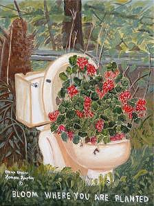 Bloom Painting by Lenore Lowery