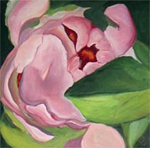 Floral Painting - Bloom Series II - Peony by Glynnis Sorrentino